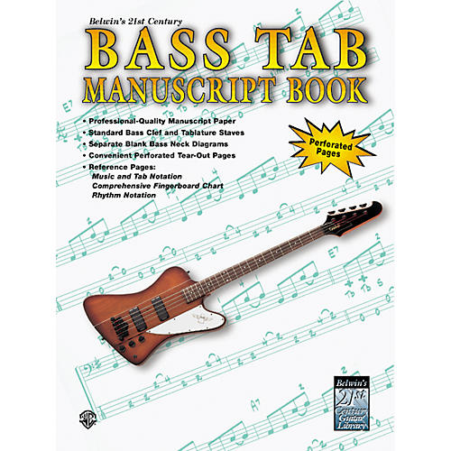 Alfred 21st Century Bass Tablature Paper Book-thumbnail