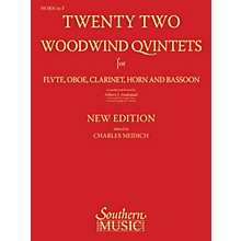 Southern 22 Woodwind Quintets - New Edition (Horn Part) Southern Music Series Arranged by Albert Andraud
