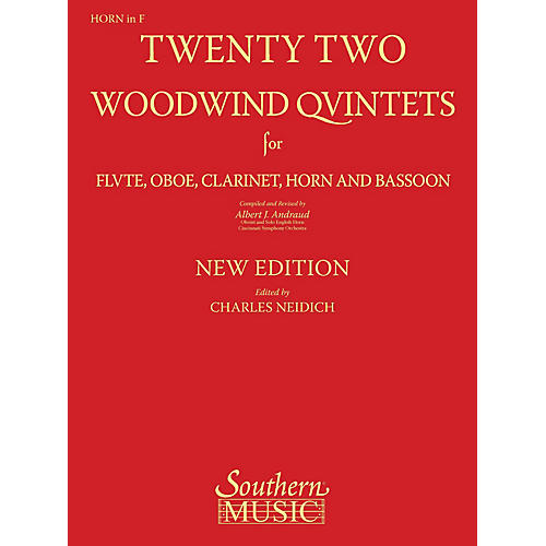 Southern 22 Woodwind Quintets - New Edition (Horn Part) Southern Music Series Arranged by Albert Andraud-thumbnail