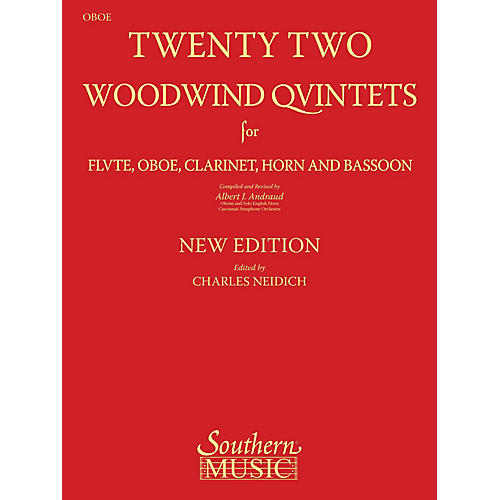 Southern 22 Woodwind Quintets - New Edition (Oboe Part) Southern Music Series Arranged by Albert Andraud-thumbnail
