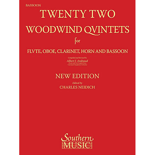 Southern 22 Woodwind Quintets - New Edition Southern Music by Albert Andraud Arranged by Charles Neidich-thumbnail