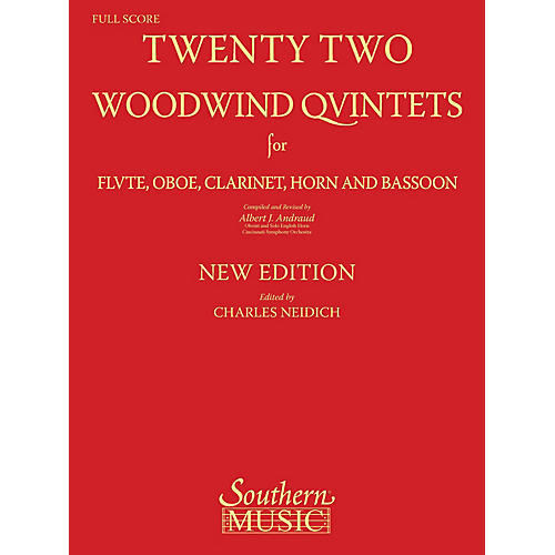 Southern 22 Woodwind Quintets - New Edition (Woodwind Quintet) Southern Music Series Arranged by Albert Andraud-thumbnail