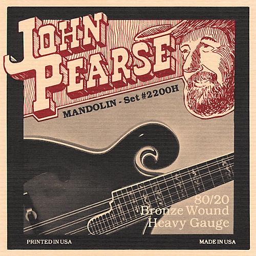 John Pearse 2200H Heavy Gauge Mandolin Strings