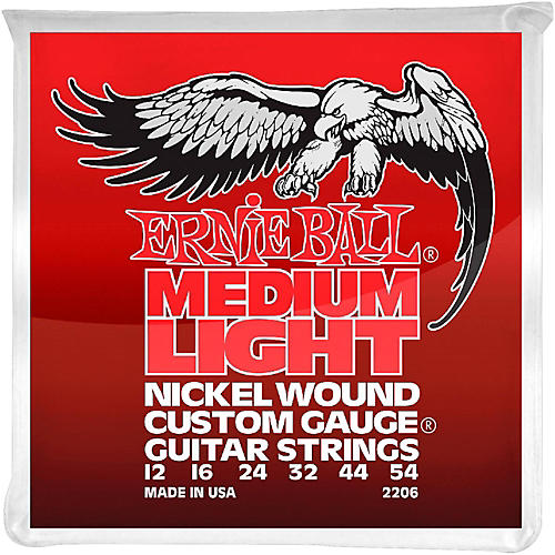 Ernie Ball 2206 Nickel Wound Medium Light Slinky Electric Guitar Strings-thumbnail