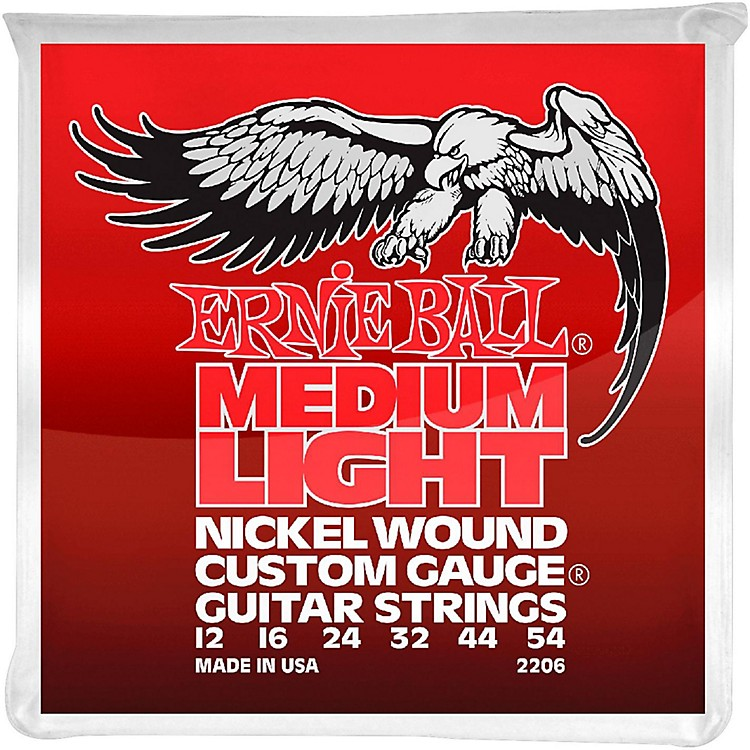 Ernie Ball 2206 Nickel Wound Medium Light Slinky Electric Guitar Strings