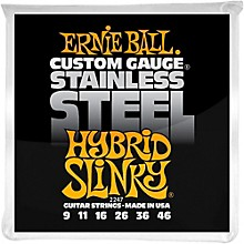Ernie Ball 2247 Hybrid Slinky Guitar Strings Stainless Steel