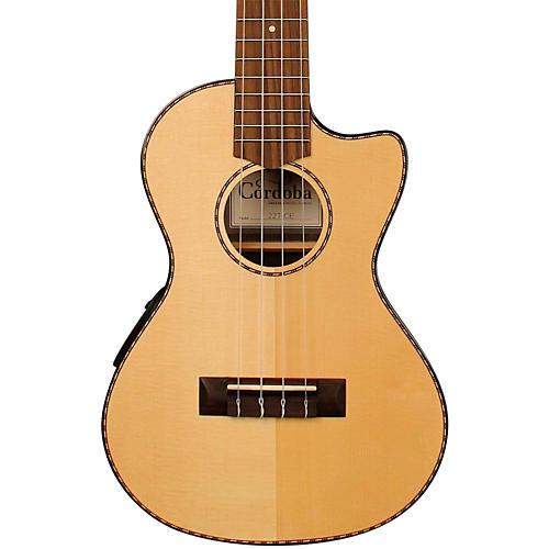 Cordoba 22T-CE Tenor Acoustic-Electric Ukulele Natural