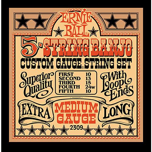 Ernie Ball 2309 Medium Gauge 5-String Banjo Strings