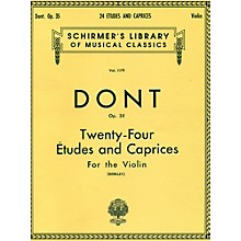 G. Schirmer 24 Etudes And Caprices for The Violin Op 35 By Dont