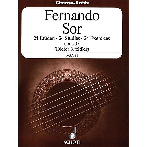 Schott 24 Etudes, Op. 35 (Volume 1: 12 Very Easy Exercises) Schott Series-thumbnail