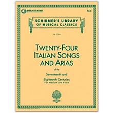 G. Schirmer 24 Italian Songs & Arias Medium Low Book/Online Audio