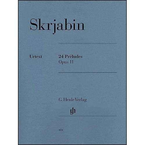 G. Henle Verlag 24 Preludes Op. 11 Piano Solo By Skrjabin