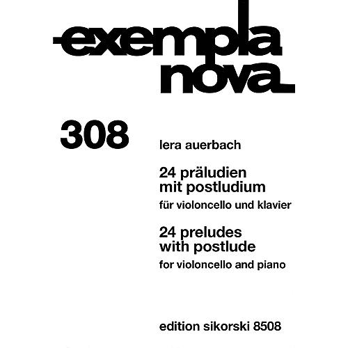 Sikorski 24 Preludes with Postlude (Cello and Piano) String Series-thumbnail