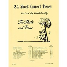 Hal Leonard 24 Short Concert Pieces for Flute and Piano (Piano Accompaniment) Robert Cavally Editions Series