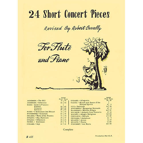 Hal Leonard 24 Short Concert Pieces for Flute and Piano (Piano Accompaniment) Robert Cavally Editions Series-thumbnail