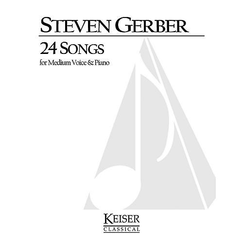 Lauren Keiser Music Publishing 24 Songs for Medium Voice and Piano LKM Music Series  by Steven Gerber-thumbnail