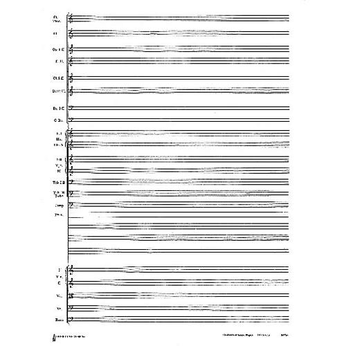 Music Sales 24 Stave Band & Orchestra Score Paper (with instrumentation) Music Sales America Series-thumbnail