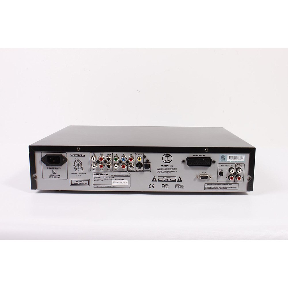 Used Vocopro Dvg-555K 5-Disc Dvd/Cdg/Vcd/Mp3/Mp4/Photo-Cd Karaoke Changer Regular 886830889417
