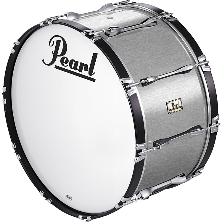 Pearl24x14 Championship Series Marching Bass DrumBrushed Silver