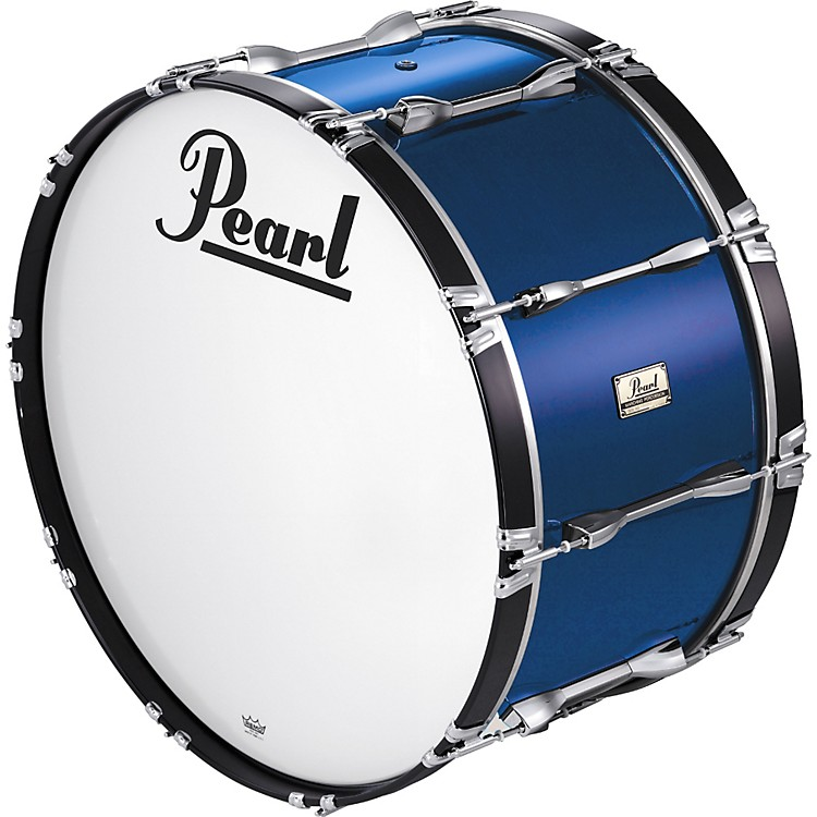 Pearl 24x14 Championship Series Marching Bass Drum White