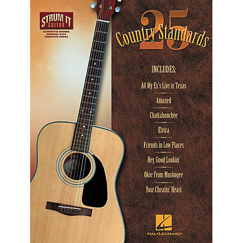 Hal Leonard 25 Country Standards Strum it Guitar Book-thumbnail
