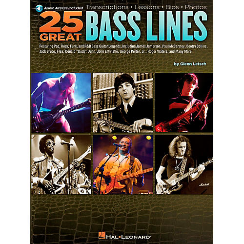 Hal Leonard 25 Great Bass Lines Guitar Book Series Softcover with CD Written by Glenn Letsch