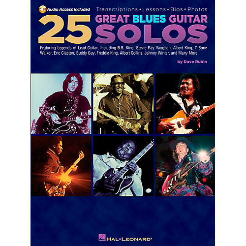 Hal Leonard 25 Great Blues Guitar Solos (Book/CD)