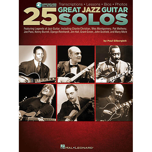 Hal Leonard 25 Great Jazz Guitar Solos Guitar Book Series Softcover Audio Online Written by Paul Silbergleit-thumbnail