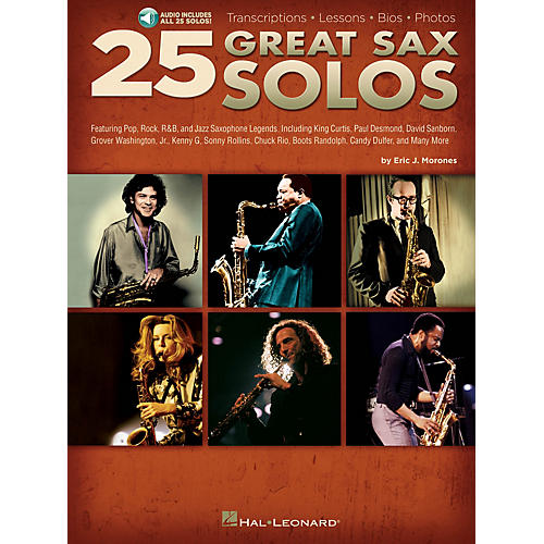 Hal Leonard 25 Great Sax Solos Sax Instruction Series Softcover Audio Online Written by Eric J. Morones-thumbnail