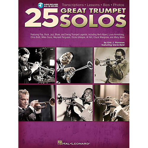 Hal Leonard 25 Great Trumpet Solos Book/CD includes Transcriptions * Lessons * Bios * Photos