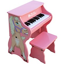Schoenhut 25-Key Toy Piano with Bench Pink