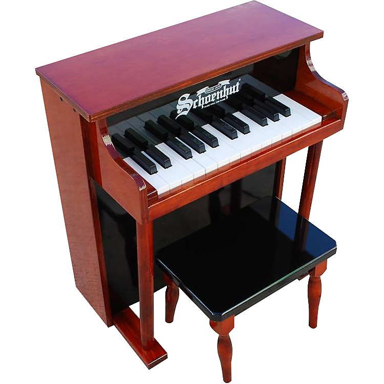 Schoenhut 25- Key Traditional Spintet Mahogany/Black