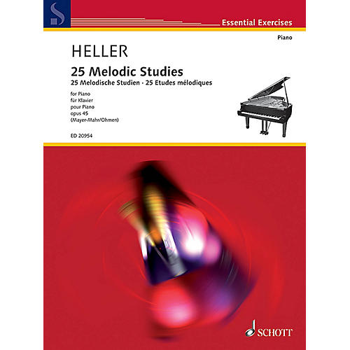 Schott 25 Melodic Studies, Op. 45 Schott Series Softcover Composed by Stephen Heller Edited by Wilhelm Ohmen-thumbnail