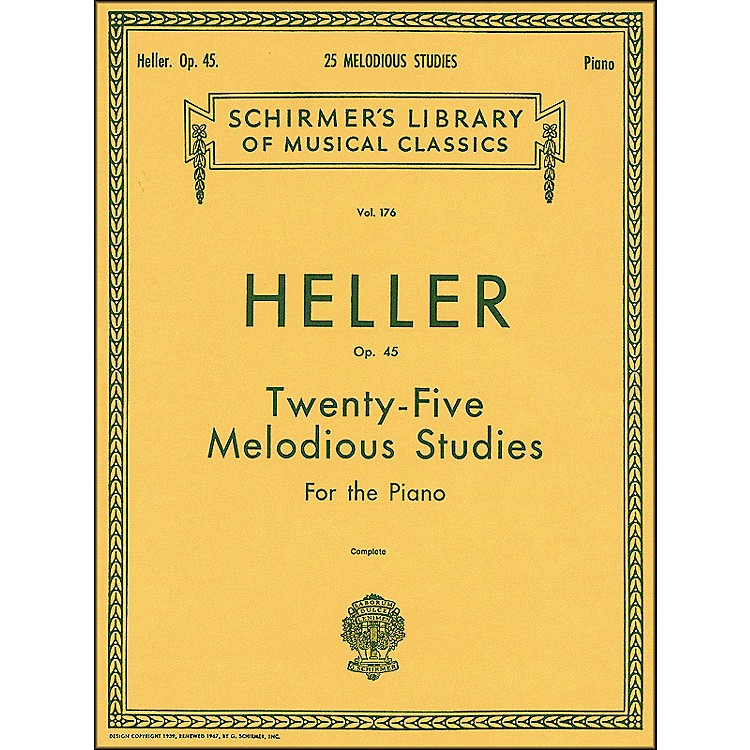 G. Schirmer25 Melodious Studies Piano Op 45 By Heller