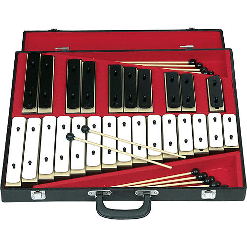 Rhythm Band 25 Note Chromatic Plastic Resonator Bell Set