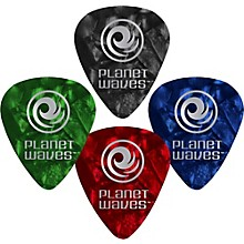 D'Addario Planet Waves 25 Standard Celluloid Picks Xtra Heavy Blue Pearl