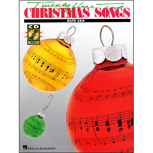 Hal Leonard 25 Top Christmas Songs for Alto Saxophone Book/CD