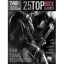 Hal Leonard 25 Top Rock Classics - Tab. Tone. Technique. (Tab+)