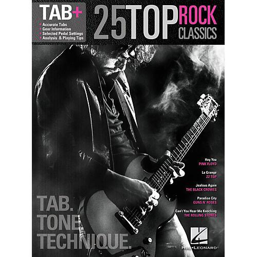 Hal Leonard 25 Top Rock Classics - Tab. Tone. Technique. (Tab+)-thumbnail