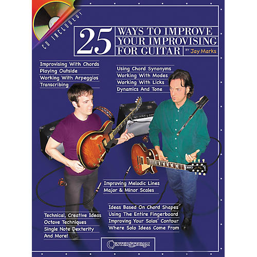 Centerstream Publishing 25 Ways to Improve Your Improvising for Guitar (Book/CD)