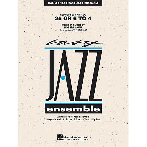 Hal Leonard 25 or 6 to 4 Jazz Band Level 2 by Chicago Arranged by Peter Blair-thumbnail