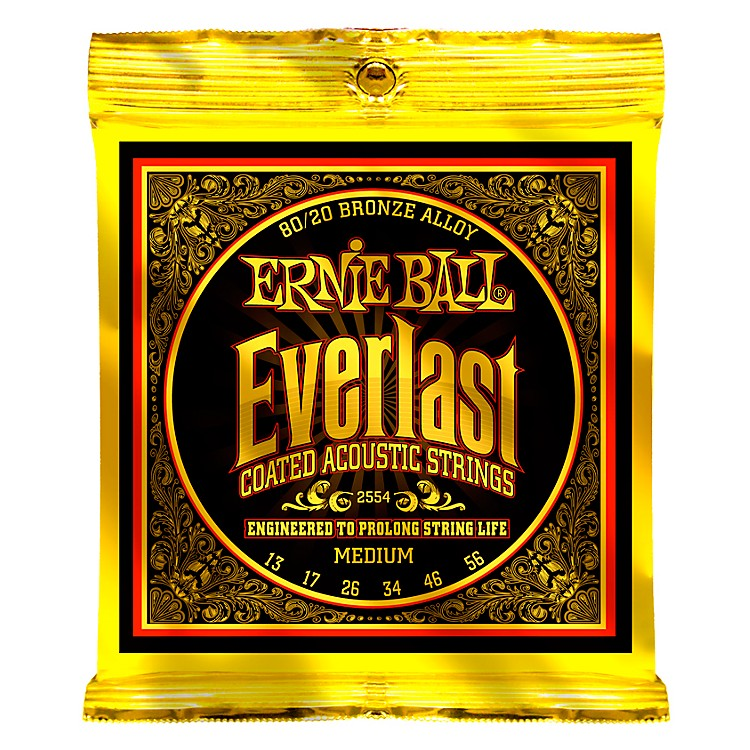 Ernie Ball 2554 Everlast 80/20 Bronze Medium Acoustic Guitar Strings