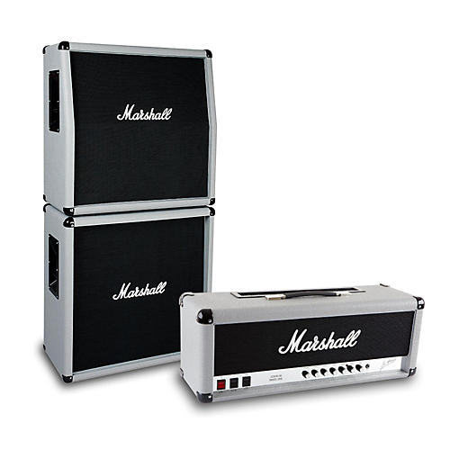 Marshall 2555X Silver Jubilee 100W Half Stack with Angled 4x12 Cabinet-thumbnail