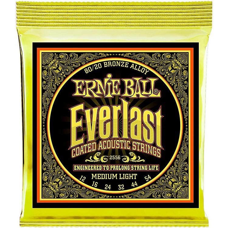 Ernie Ball2556 Everlast 80/20 Bronze Medium Light Acoustic Guitar Strings
