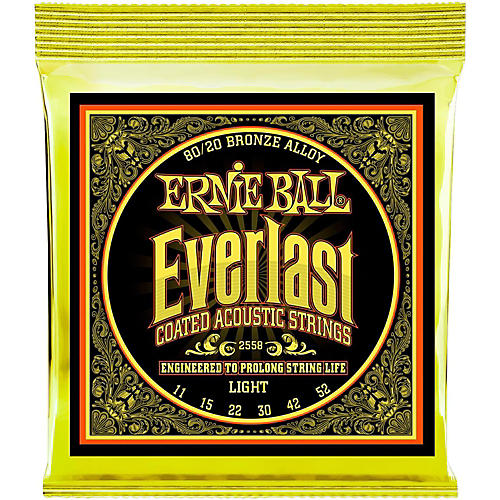 Ernie Ball 2558 Everlast 80/20 Bronze Light Acoustic Guitar Strings
