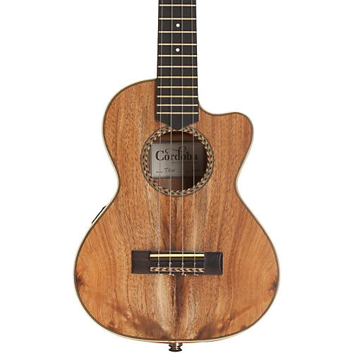 Cordoba 25TK-CE Tenor Cutaway Electric Ukulele Natural