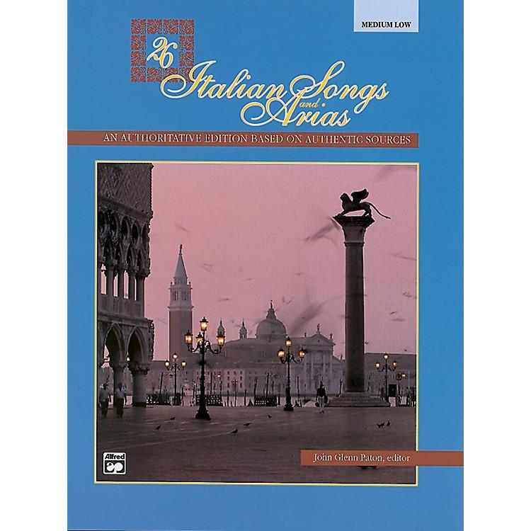 Alfred26 Italian Songs and Arias Book (Medium Low)