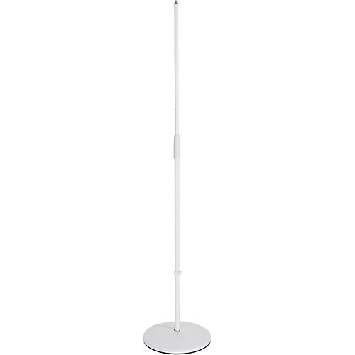 K&M 26010.500.76 White Round Base Microphone Stand-thumbnail