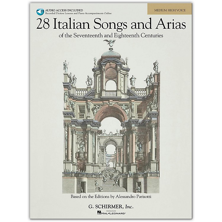 G. Schirmer 28 Italian Songs And Arias for Medium High Book/CD
