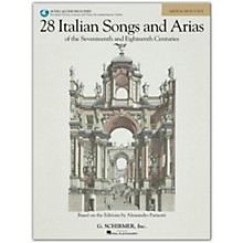 G. Schirmer 28 Italian Songs And Arias for Medium High Book/Online Audio